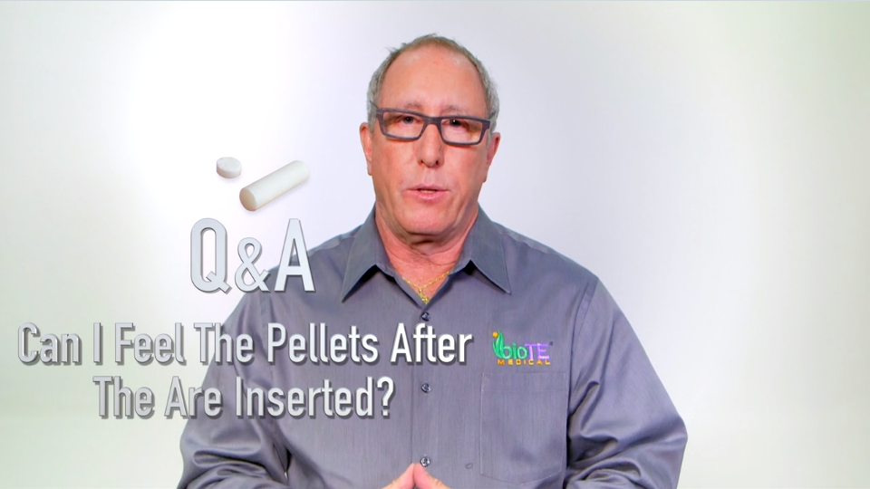 Can I feel the pellets after they are inserted?