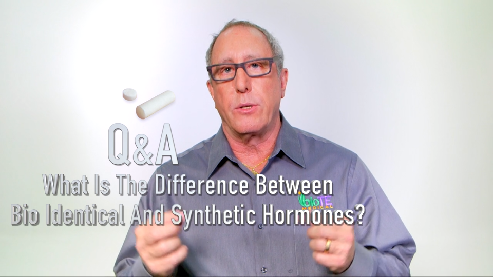 What is the difference between Bio-Identical hormones and Synthetic hormones?